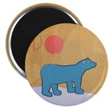 Blue Bear Magnet