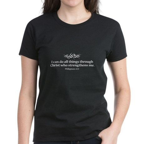 Philippians 4:13 Women's Dark T-Shirt