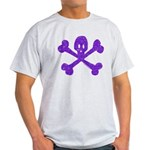 PurpleSkull&Crossbones Light T-Shirt