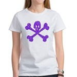 PurpleSkull&Crossbones Women's T-Shirt