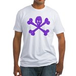 PurpleSkull&Crossbones Fitted T-Shirt