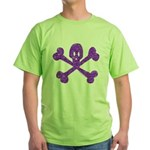 PurpleSkull&Crossbones Green T-Shirt