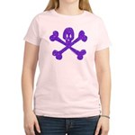 PurpleSkull&Crossbones Women's Light T-Shirt