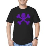 PurpleSkull&Crossbones Men's Fitted T-Shirt (dark)