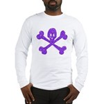PurpleSkull&Crossbones Long Sleeve T-Shirt