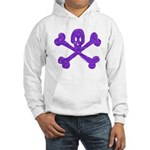 PurpleSkull&Crossbones Hooded Sweatshirt