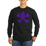 PurpleSkull&Crossbones Long Sleeve Dark T-Shirt