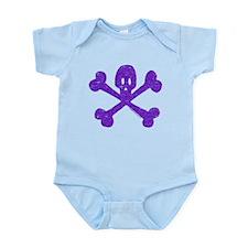 PurpleSkull&Crossbones Infant Bodysuit
