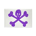 PurpleSkull&Crossbones Rectangle Magnet (10 pack)