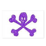 PurpleSkull&Crossbones Postcards (Package of 8)
