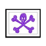 PurpleSkull&Crossbones Framed Panel Print