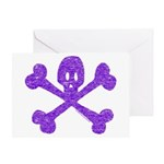 PurpleSkull&Crossbones Greeting Card