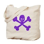 PurpleSkull&Crossbones Tote Bag