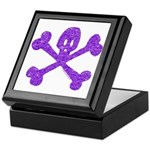 PurpleSkull&Crossbones Keepsake Box