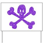 PurpleSkull&Crossbones Yard Sign