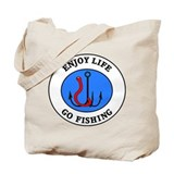 Enjoy Life Go Fishing Tote Bag