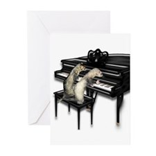 Ferret Couple Piano Duet Greeting Cards (Pk of 20)