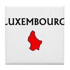 Unique Luxembourger map Tile Coaster