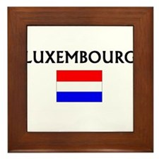 Cute Luxembourger map Framed Tile