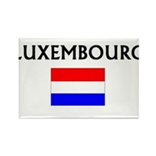 Unique Luxembourger map Rectangle Magnet