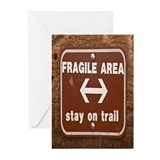 Fragile Area Greeting Cards (Pk of 20)