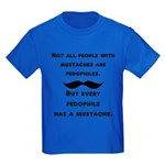 Mustaches Kids Dark T-Shirt