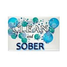 CLEAN n SOBER Rectangle Magnet (100 pack)