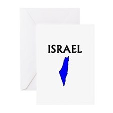 Cute Isreal flag Greeting Cards (Pk of 10)
