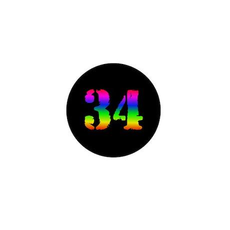 34 Rainbow Mini Button (10 pack)