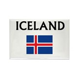 Cute Icelandic map Rectangle Magnet (10 pack)