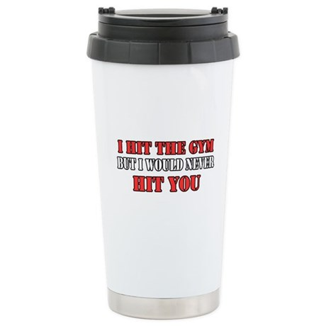 I Hit The Gym Ceramic Travel Mug