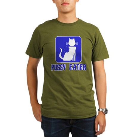 Pussy Eater Organic Mens Dark T-Shirt