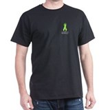 Lymphoma Awareness Lime Ribbon on T-Shirt