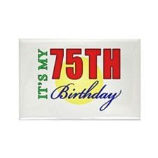 75th Birthday Party Rectangle Magnet (100 pack)