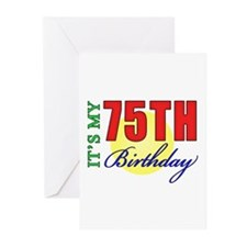 75th Birthday Party Greeting Cards (Pk of 20)