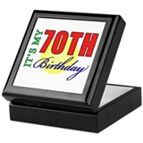 70th Birthday Party Keepsake Box