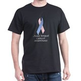 Male Breast Cancer Awareness on T-Shirt
