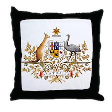 Australia Coat of Arms Throw Pillow