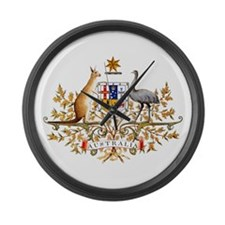 Australia Coat of Arms Large Wall Clock