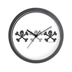 3Skulls&Crossbones Wall Clock