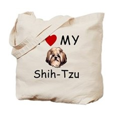 I Heart My Shih-Tzu Lost Humor Tote Bag