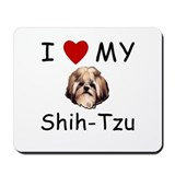 I Heart My Shih-Tzu Lost Humor Mousepad