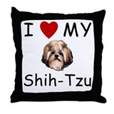 I Heart My Shih-Tzu Lost Humor Throw Pillow