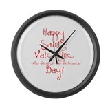 Unique Anti valentines Large Wall Clock
