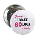 Hot 80th Birthday 2.25&quot; Button (100 pack)