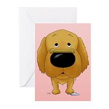 Golden Valentine Greeting Cards (Pk of 10)