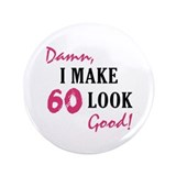 "Hot 60th Birthday 3.5"" Button (100 pack)"