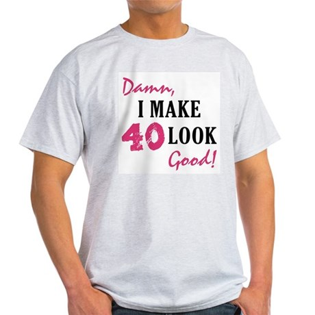 40 gifts 40 mens hot 40th birthday light t shirt. Black Bedroom Furniture Sets. Home Design Ideas