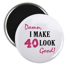 "Hot 40th Birthday 2.25"" Magnet (100 pack)"
