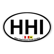 Hilton Head Island SC - Oval Design Decal